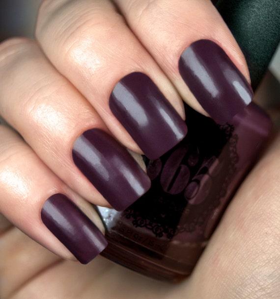Dark Plum Creme Nail Polish Jambul