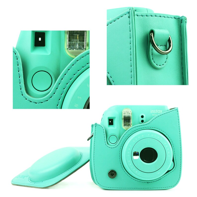 Fujifilm Instax Mini 8 9 Camera Bag Minit Green Red Pink Blue Leather Protection Case Sale