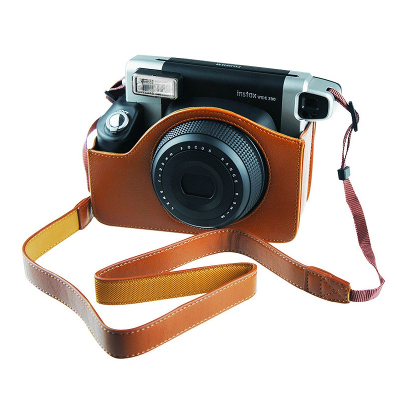 Fujifilm Instax Wide 300 Camera Case Leather Bag Brown