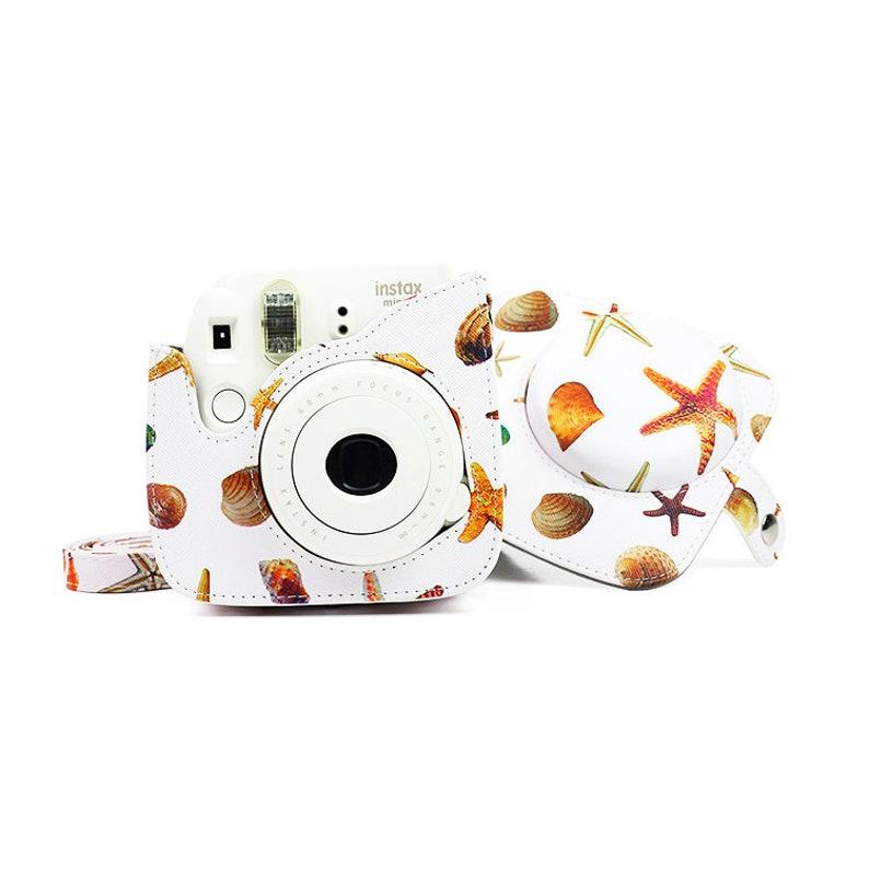 Fujifilm Instax Mini 8 9 Camera Bag Leather Protection Case Summer Marine