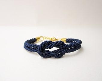 bridesmaid gift navy wedding nautical wedding tie the knot bracelet rope bracelet summer wedding sailor bracelet will you be my bridesmaid