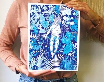 Print Blue Jungle