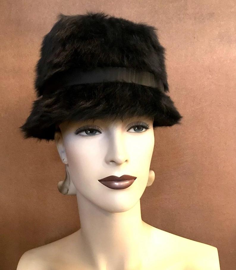 6e5f1b8ac32 Vintage Christian Dior Miss Dior Black Angora Mod 1960s Audrey