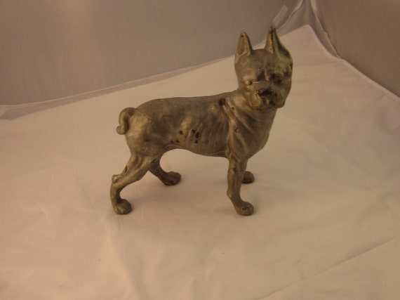 - Hubley Antique Cast Iron Boston Terrier Door Stop Boston