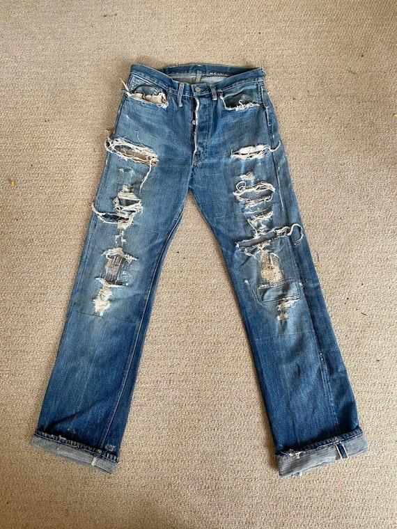 Vintage 1970s Trashed Levi's Jeans