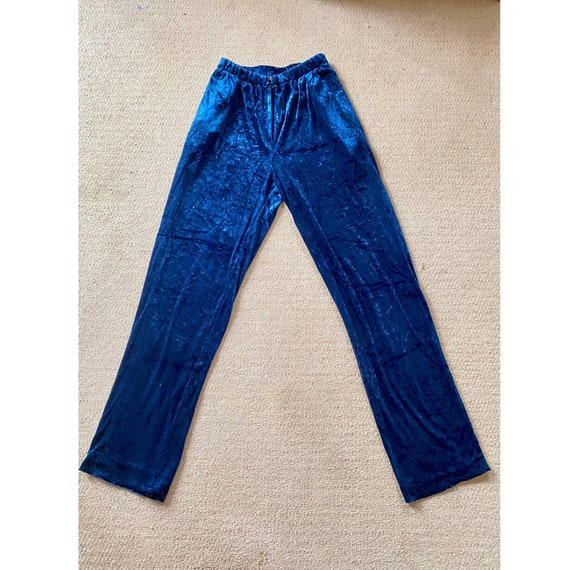 Vintage 1970's Lee Bender for Bus Stop Blue Velvet