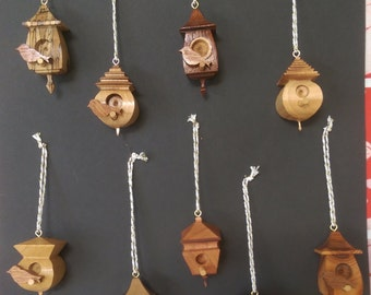 Mini Birdbox Christmas Tree Ornaments