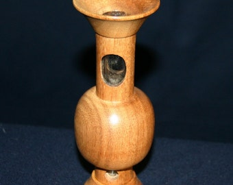 "Modern Bud Vase made from English Oak. Hand turned.6.75""H  2.25""D."