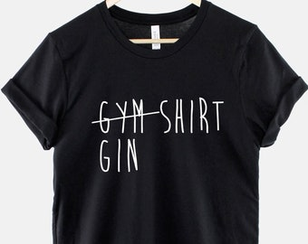 Gym /& Tonic Gin Fitness Workout Training Lover Funny Slogan T-Shirt Tee Top Gift