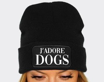 53cdb9bb33b J adore Dogs   Dog Beanie   I Love Dogs Beanie Hat   Dog Lover Winter Hat    Dog Owner Gift