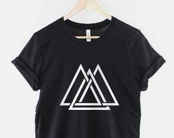 c0d1b8935ff7 Geometric Interlocking Triangle Maze Shapes Hipster T-Shirt