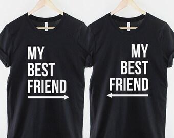 38b0eb0fcb3 Kids My Best Friend TShirts Twin Pack   2 x Childrens My Best Friends Arrow  Shirt Set