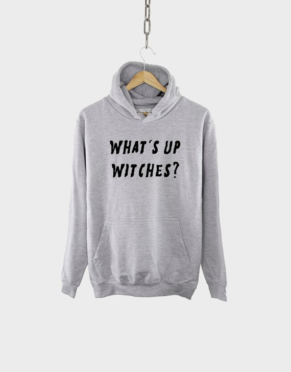 PUSHING BLACK Happy Halloween Witches Unisex Pullover Hoodie