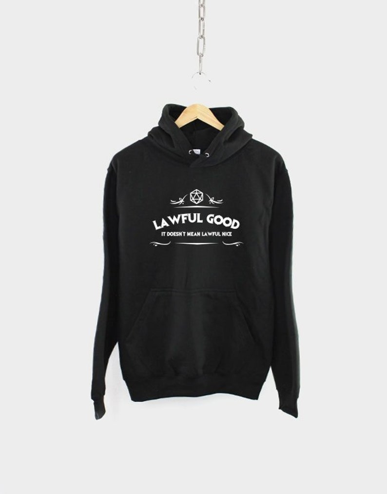 429fc146 Kids DnD Dungeons And Dragons Inspired Hoodie / Lawful Good Alignment / RPG  Gamer Themed Gift