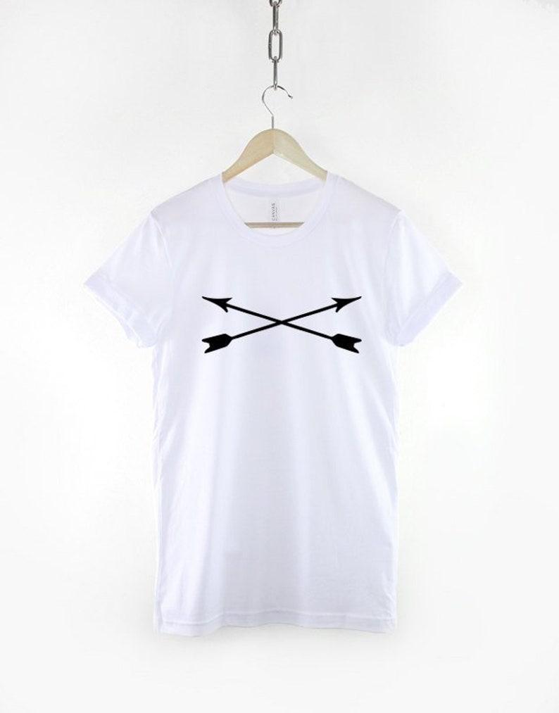 Bow And Arrow Cross Mens T-Shirt image 0