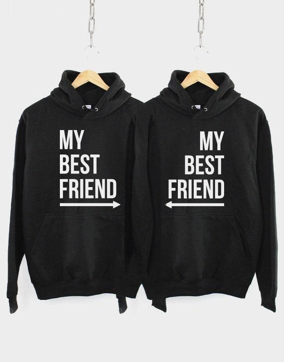 Best Friends Hoodies 2 x My Best Friend Hoodie Twin Pack of 2 Hoodys
