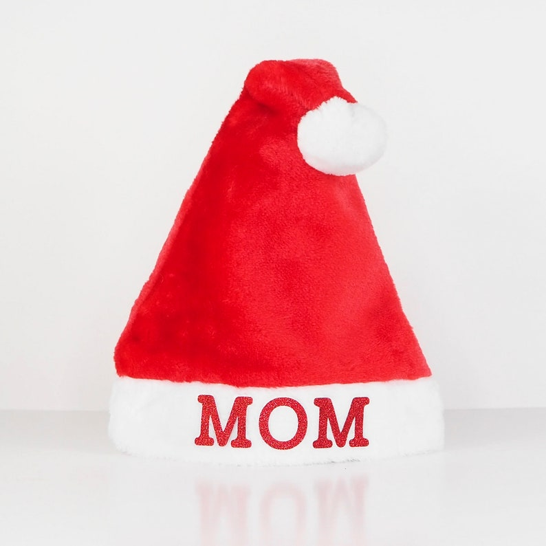 4bc6ba1943 Personalized Plush Red Santa Hat   Personalised Father