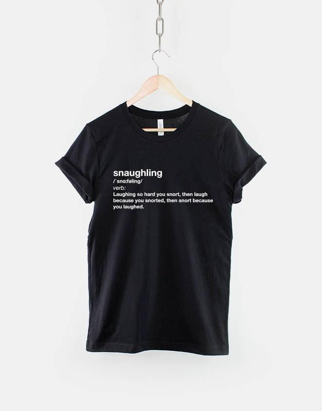 Extrait Funny de dictionnaire Snaughling T-Shirt   renifler rire Funny  Extrait Slogan T-Shirt 90fe61 77316dde6c66