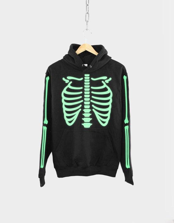 ZL Happy Halloween Skull Mens Hoodie Sweatshirt