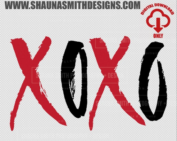 XOXO SVG - Valentines Day Svg - Hugs and Kisses Svg - Love Svg - Valentines Day Svg - Hand Lettered Svg - Wedding Svg - png dxf eps svg