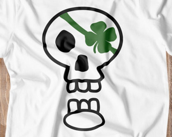 Shamrock SVG - St Patricks Day SVG - St Patricks SVG - Shamrock Svg - Skull Svg - Kids St Patricks Day T-shirt St Pattys Day Svg Silhouette