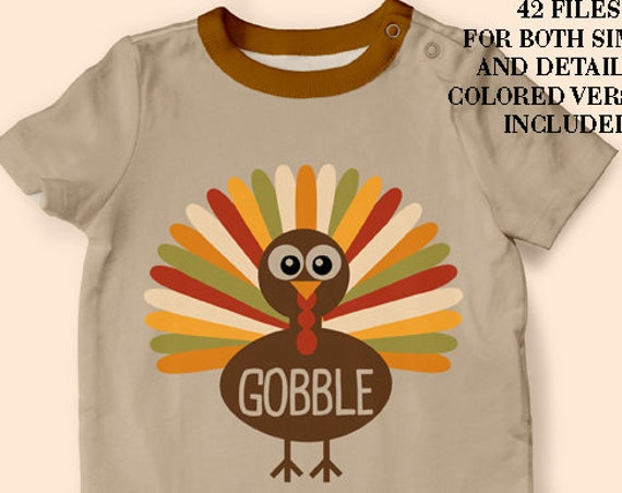 Thanksgiving Turkey SVG Gobble SVG files for Silhouette Autumn Svg Thanksgiving Decor SVG Table Decor Svg First Thanksgiving Svg
