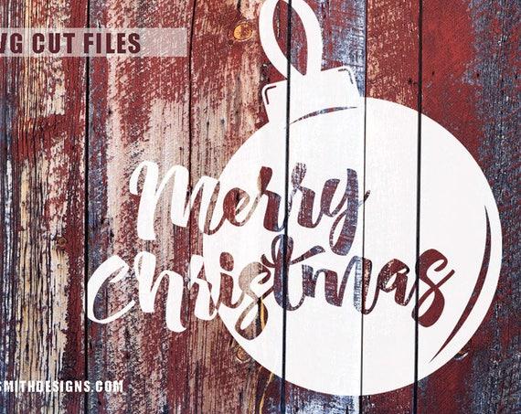 Merry Christmas SVG - Christmas Wine SVG - Christmas SVG - Christmas Ornament Svg - Christmas Decorations - Christmas Sign Silhouette Cricut
