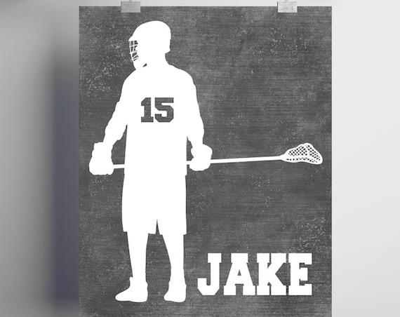 LACROSSE Gifts - PERSONALIZED Lacrosse Artwork - Printed or Printable - Lacrosse Coach Gift - Lacrosse Defenseman Gift - Lacrosse Wall Art
