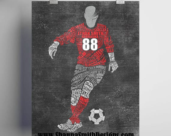 PERSONALIZED Soccer Gift - Personalized SOCCER Coach Gift - Soccer Player Gift - Soccer Wall Art - Soccer Mom - Soccer Senior - Soccer Decor