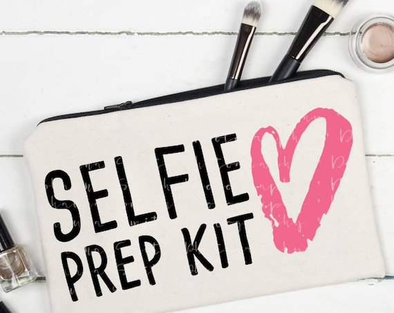 Selfie SVG - Selfie Prep Kit SVG - Canvas Bag SVG - Makeup Bag Svg - Toiletries Bag Svg - Silhouette Files Circuit Svg Files Bathroom Svg