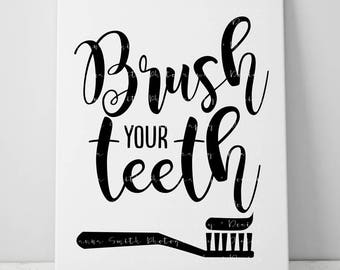 Brush Your Teeth Etsy