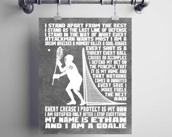 Personalized LACROSSE GOALIE Gift - Lacrosse Gift - Lacrosse Mom - Lacrosse Coach Gift - Goalie Gift - Lacrosse Goalie Wall Decor Lax Goalie