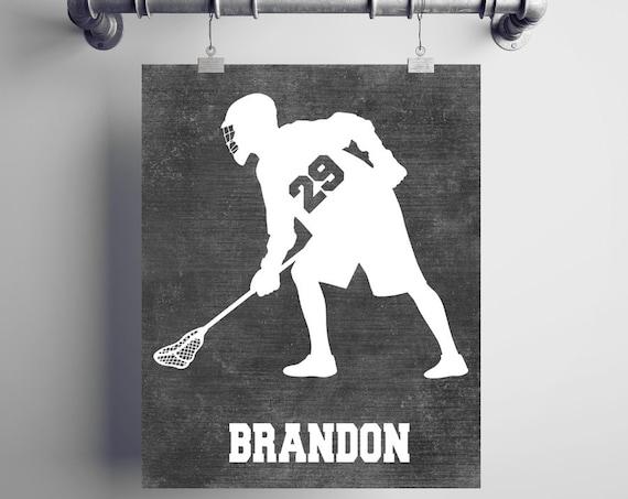 Personalized LACROSSE Gift - Lacrosse Decor - Lacrosse Coach Gift -  Lacrosse Wall Art - Lacrosse Wall Decor - Lacrosse End of Season Gift