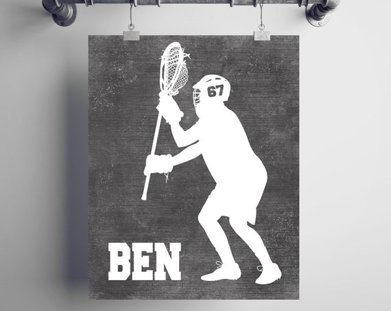 PERSONALIZED Lacrosse GOALIE Artwork - Add Your Player's Name and Number to Create a Unique Lacrosse Player Gift or Lacrosse Coach Gift!