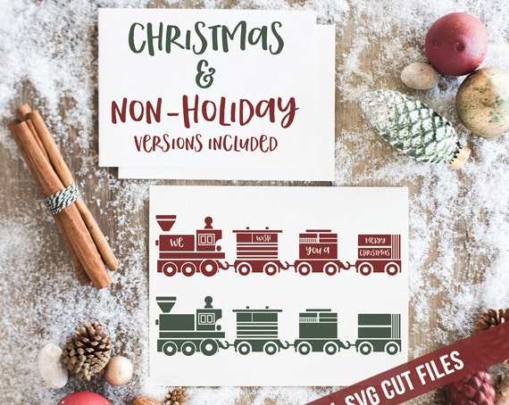 Christmas Train SVG Cutting File Vinyl Cutting Decal SVG files for Silhouette Cameo Cut Files Svg Cutting Files SVG Decal Train svg toy svg