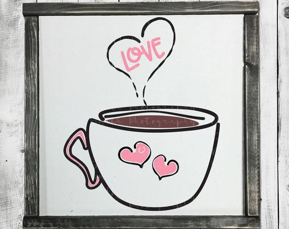 Hand Lettered SVG - Valentines SVG - Hot Cocoa SVG - Coffee Svg - Heart Svg - Mom Svg - Valentines Day Svg - Silhouette Circuit Cut Files