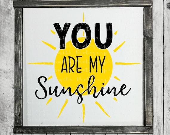 You Are My Sunshine SVG - Baby SVG - Sunshine SVG - Nursery Svg - Sun Svg - Lullaby Svg - Silhouette Cut Files - Circuit Cutting Files