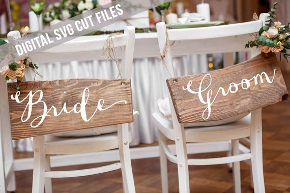 Bride and Groom SVG - Wedding Signs - Wedding Table Decor - Wedding SVG files - Silhouette Cameo - Cricut - Groom Svg - Favors SVG Bride Svg