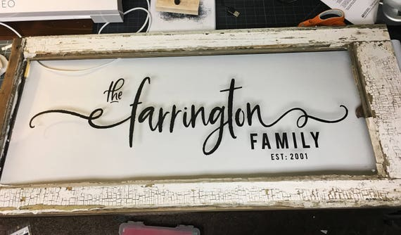 PERSONALIZED Farmhouse Style Family Sign SVG Cutting File Vinyl Cutting Decal Family Est SVG files Silhouette Cameo Cut Files Svg Cut Files