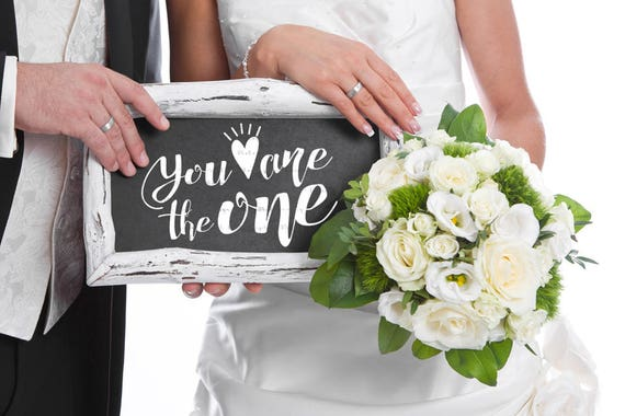 You Are The One SVG Cutting File Vinyl Cutting Decal  SVG files Silhouette Cameo Cut Files Wedding SVG Bride Svg Groom Svg Love Svg