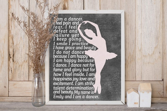 DANCER Gifts - Personalized Dance Artwork - Printed or Printable - Dancer Wall Art - Dance Teacher Gifts - Dance Team Gifts - Dance Gifts