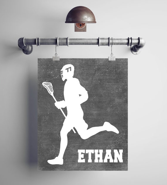 Personalized Lacrosse Gift - Lacrosse Coach Gift - Lacrosse Mom - Lacrosse Wall Art - Lacrosse Wall Decor - Lacrosse Artwork - Middie Gift