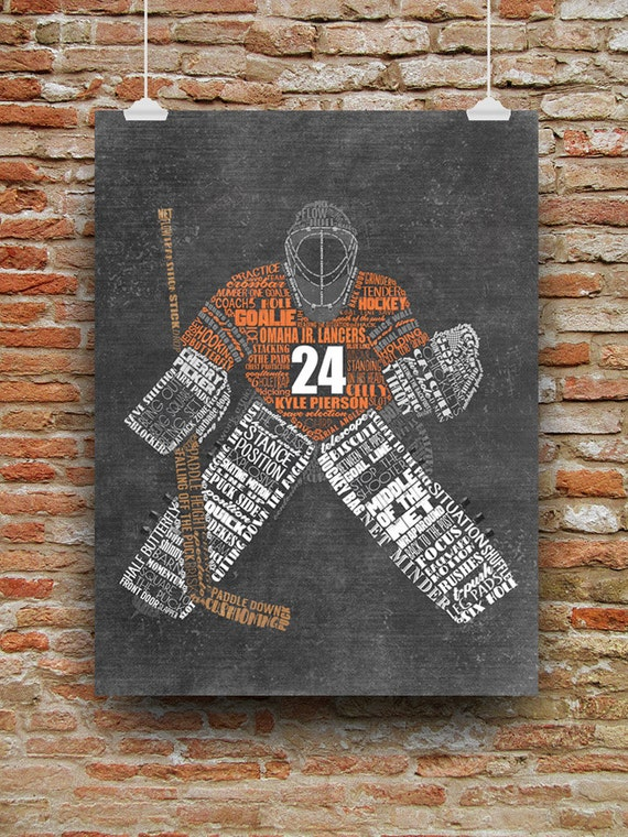 HOCKEY GOALIE Gift - Hockey Mom Gift - Personalized Hockey Coach Gift - Printable or Printed - Hockey Wall Decor - Hockey Senior Gift