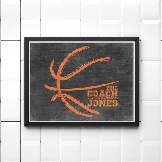 PERSONALIZED Basketball Artwork - Basketball Coach Gift - Basketball Wall Decor - Basketball Senior Gift - Personalized Basketball Gift