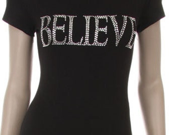 BELIEVE Rhinestone Shirt