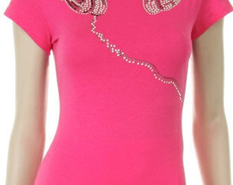 Headphone Rhinestone Iron on Shirt