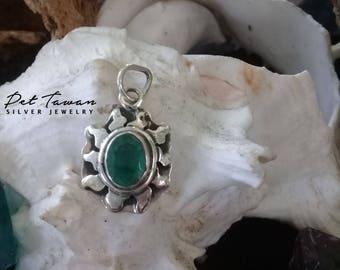 Pendant - Sun - Emerald - Unique - Handmade - Divine - Healing - Made with Love