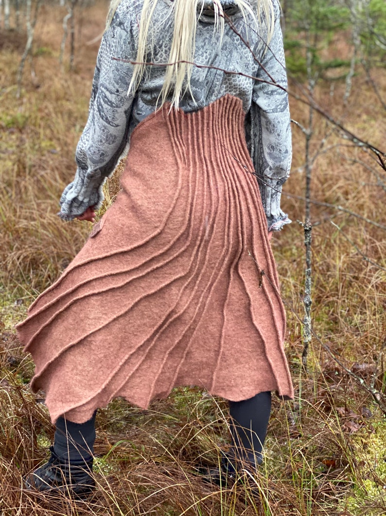 Sculpture on the Fabric Butt Skirt Warm Gift to Women ~ Cozy Comfy Feeling for Body Convertible layer Multi Use Wrap Skirt by Aiste Anaite