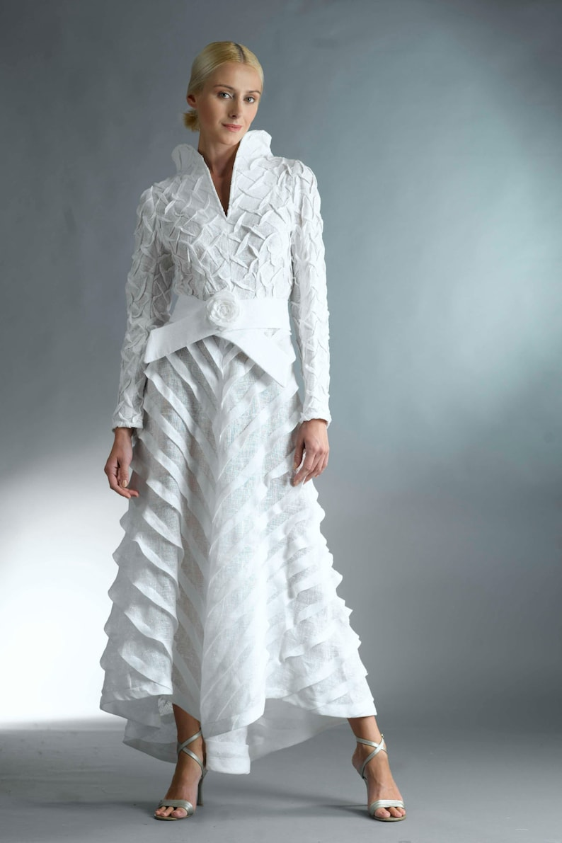 Vestido blanco largo coctel