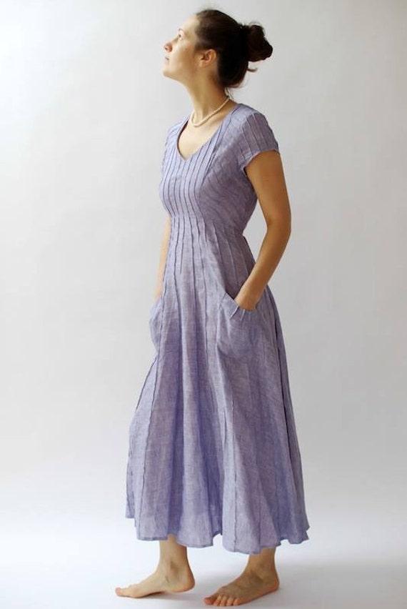 Unique Dress for Women Linen Dress Elegant Dresses Beach Dress Linen Clothing Cocktail Dress Custom Dress Aiste Fashion